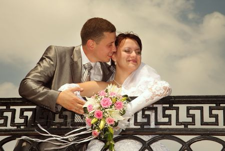 unforgettable: Day of wedding the most solemn and unforgettable in a life of each person. Stock Photo