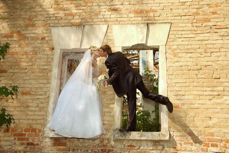 Day of wedding the most solemn and unforgettable in a life of each person. Stock Photo
