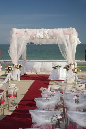 The big tent for celebrating ceremony of wedding