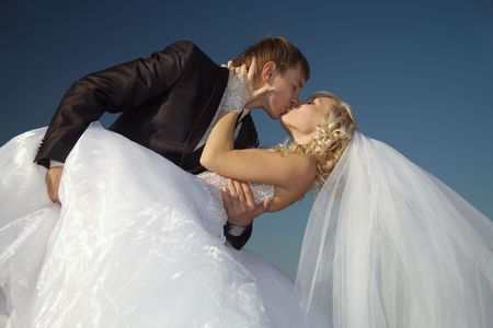 Day of wedding for in love the happiest day in a life Stock Photo