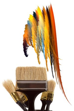 complete set of brushes for painting an interior in the house Stock Photo - 6159852