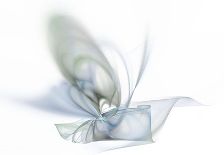 apophysis: Mixed paint of different colors on a white background