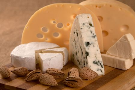 Business a still-life from classical samples of cheese. Stock Photo - 6431520