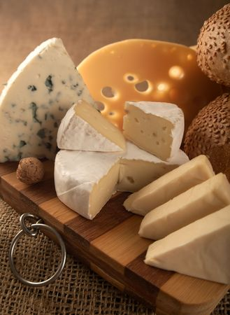 Business a still-life from classical samples of cheese. Stock Photo - 6431533