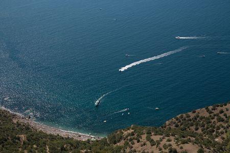 crimean: Crimean Mountains form the city of Balaklava, Ukraine