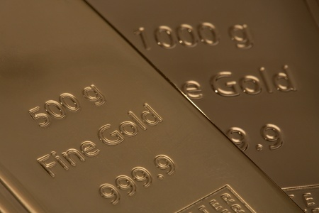 Bar of high quality gold. Favourable investment. photo