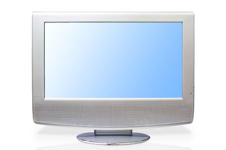 Lcd high definition flat screen tv & Digital computer monitor Modern lcd flat tft stereo hd tv television. Lcd-flat.Lcd. Stock Photo