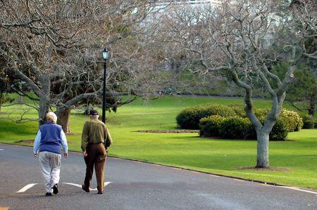 Elderly Couple Walking Stock Photo - 558699