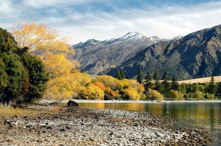 Fall Mountain lake Stock Photo - 558716