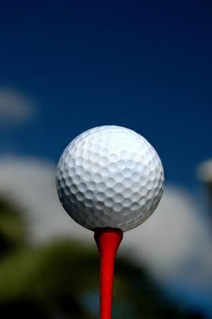 Golf Tee and Ball Stock Photo - 558708