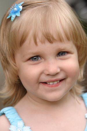 babyface: Portrait of the cheerful girl Stock Photo