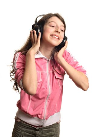 The girl listens to music Stock Photo - 2669268