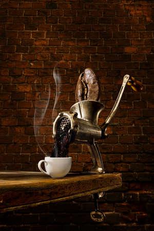 młynek do kawy: Mięso i kawy szlifierka szlifierka hybrydowe Zdjęcie Seryjne