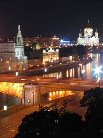 Night view of Moscow streets from Hotel Stock Photo - 848255