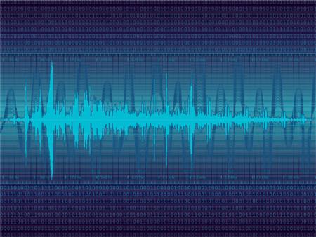 Audio Waveform vector background (only linear gradients) Stock Vector - 964151