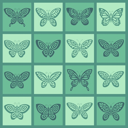 Butterflies icon set