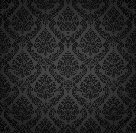 baroque pattern: Seamless damask pattern