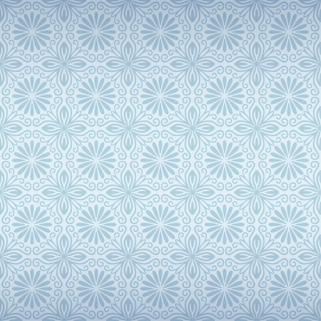blue silk: Seamless Floral Pattern Illustration