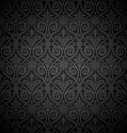 Seamless gothic damask background  Vector