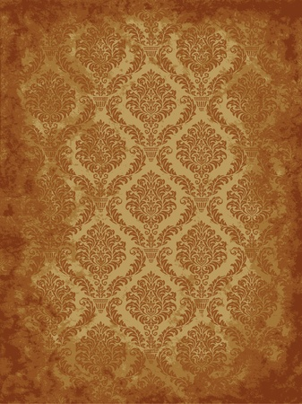 Seamless damask grunge background