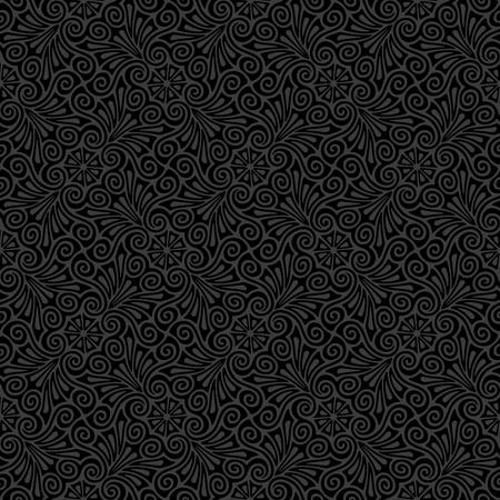 gray pattern: Seamless ornamental pattern  Illustration