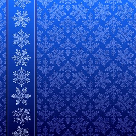 Seamless snowflake winter pattern
