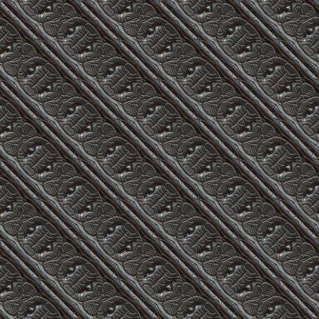 Seamless ornamental metal engraving Stock Photo