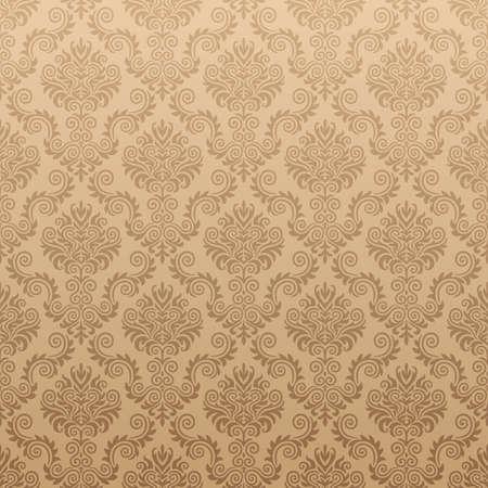 brown: Seamless Damask wallpaper
