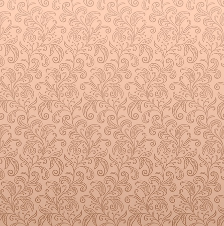 Seamless Floral Wallpaper  Illustration