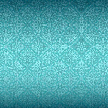 アクアマリン: シームレスな装飾的な壁紙
