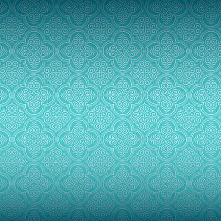 turquoise background: Seamless Ornamental Wallpaper