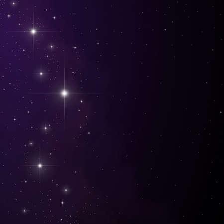 Stars and nebula vector Illustration
