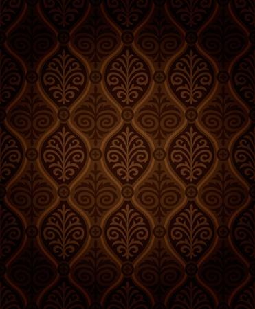 Seamless damask wallpaper Illustration