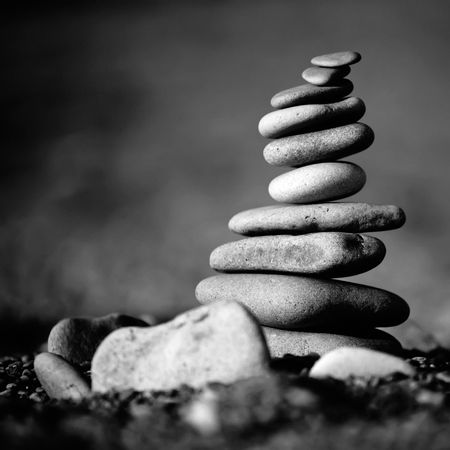 counterpoise: balance stones