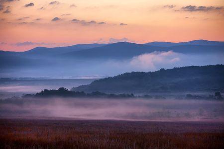 exhalation: Sunrise Stock Photo