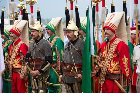 SEVASTOPOL, UKRAINE - JUNE 14. Turkish historical-military orchestra on Sevastopol Military Tattoo Festival 2013 on june 14, 2013 in Sevastopol, Ukraine