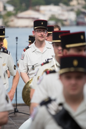 SEVASTOPOL, UKRAINE - JUNE 14. France musician on 'Sevastopol Military Tattoo Festival 2013' on june 14, 2013 in Sevastopol, Ukraine
