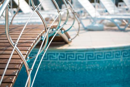 spa and resort: Swimming pool on spa resort Stock Photo