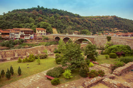 tarnovo: Veliko tarnovo town in Bulgaria Stock Photo
