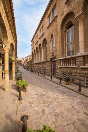 veliko: Street in Bulgarian town Veliko-tarnovo