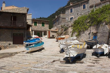 slipway: Fishing village with boats and slipway