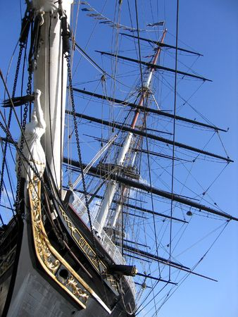 greenwich: Cutty Sark, old clipper Stock Photo