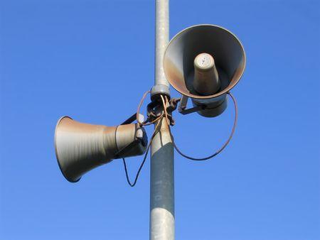 amplification: Deux vieux haut-parleurs Banque d'images