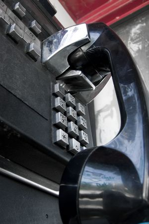 Public telephone from low angle Stock Photo - 554284
