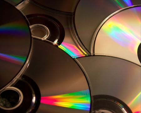 cd rom: A pile of compact discs