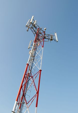 High tower of a GSM transmitter Stock Photo - 609273