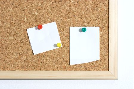 Cork board with a piece of paper. Add your own text photo