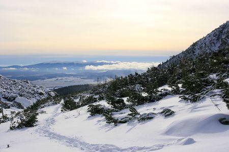 tatra: High tatra in the fresh winter snow