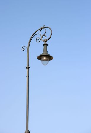 Traditional city light under clear blue sky Stock Photo - 708396