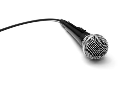 loudness: Dynamic microphone isolated on white